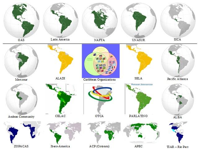 Veinte países, veinte bloques regionales