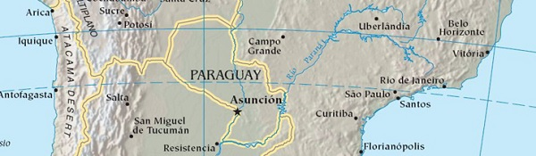 Bandera y escudo Paraguay
